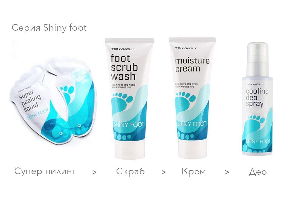 серия для ухода за кожей ног
