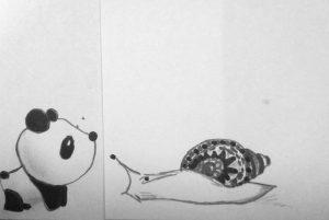 панда и улитка