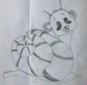 смесь панды и улитки