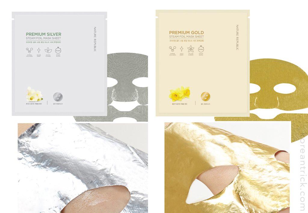 золотая и серебряная маски