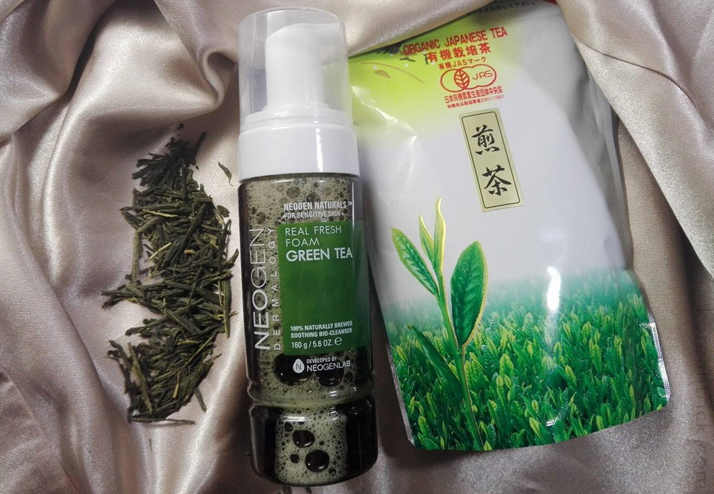 пенка с зеленым чаем