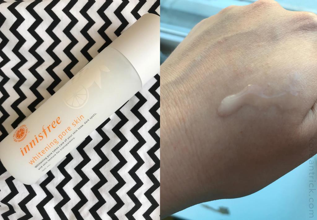 Отбеливающий тонер Innisfree Whitening pore skin отзыв