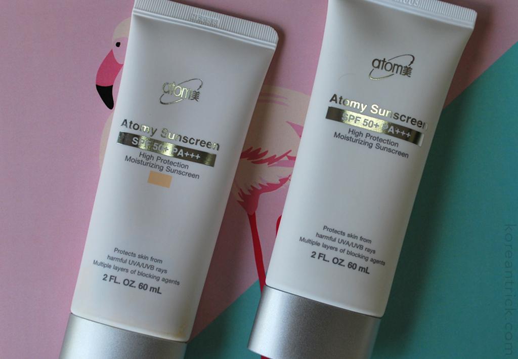 Солнцезащитный крем Atomy Sunscreen SPF 50+ PA+++ отзыв