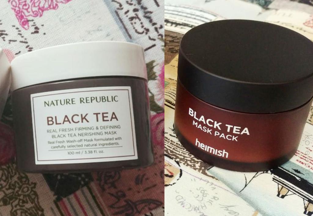 Сравнение масок с экстрактом черного чая