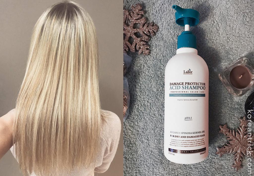Шампунь с аргановым маслом La'Dor Damaged Protector Acid Shampoo отзыв