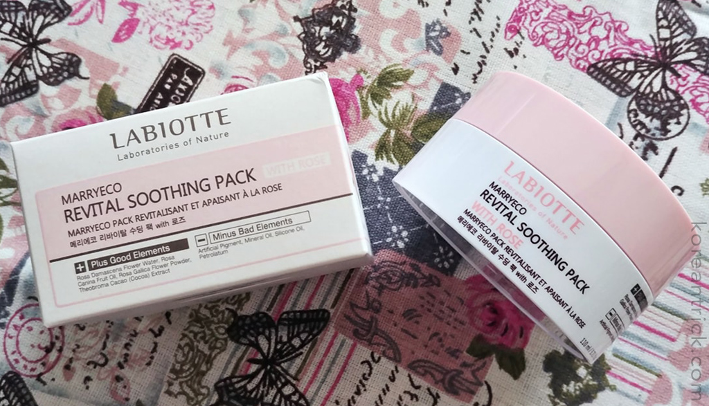 Labiotte Marryeco Revital Soothing Pack with Rose отзыв