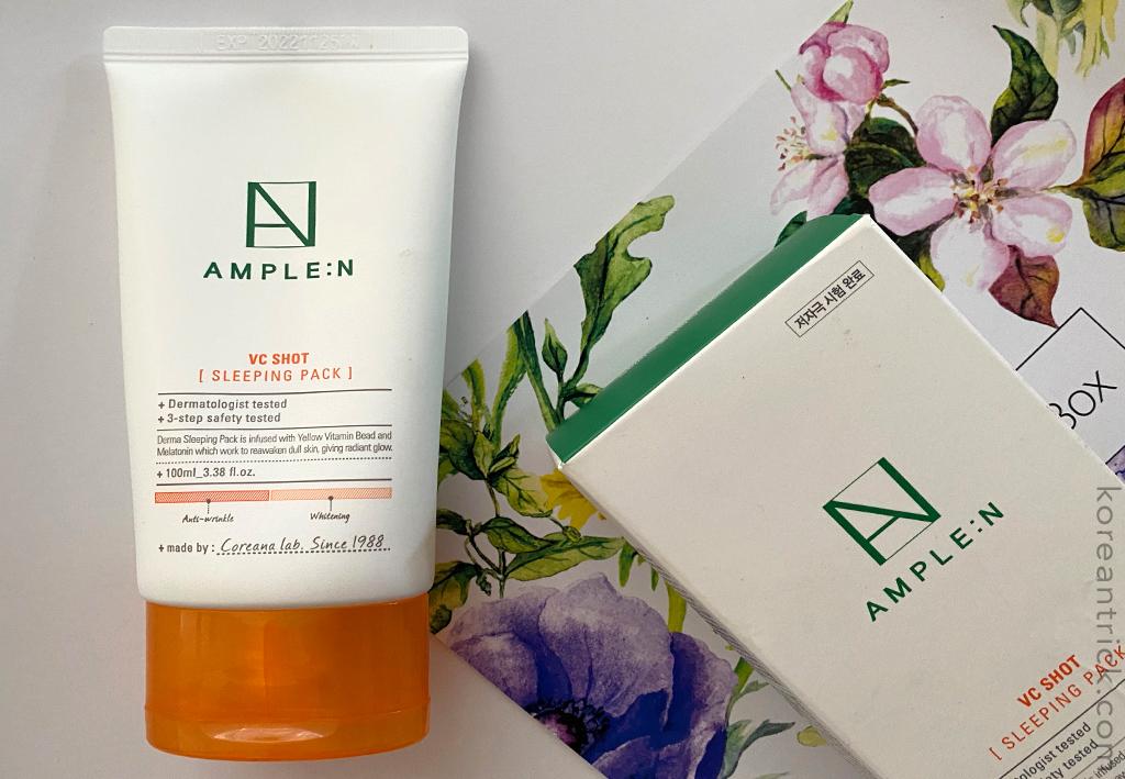 Ночная маска с витамином С AmpleN  VC Shot Sleeping Pack отзыв